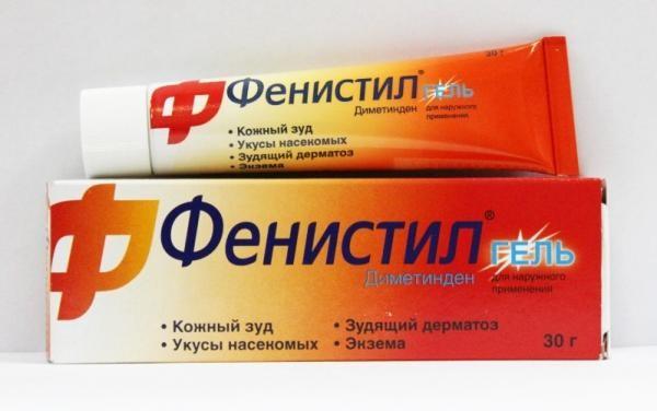 Фенистил гель - прекрасное средство чтобы снять зуд после укуса насекомого