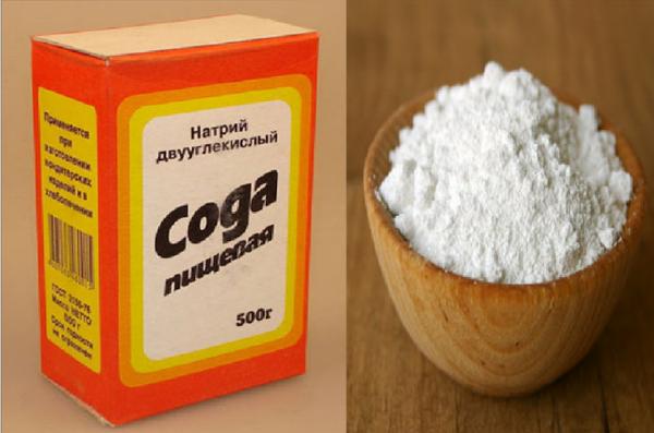 Снять зуд можно протерев воспаленный участок пищевой содой