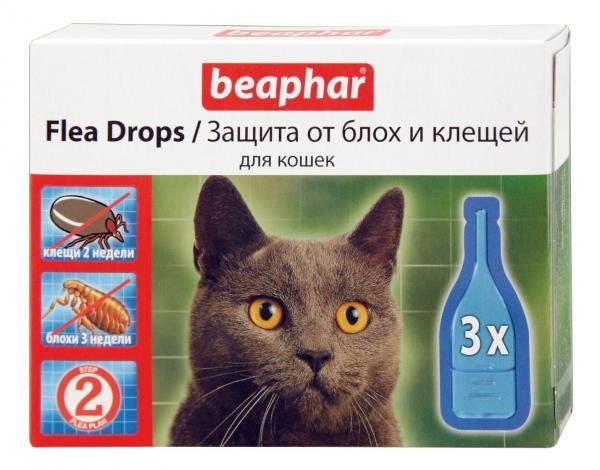 Капли Beaphar для кошек от блох и клещей