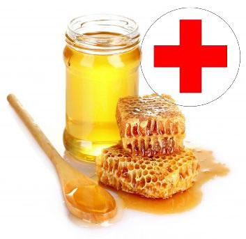 Эффективно снимает воспаление и зуд мед, нанесенный на место укуса