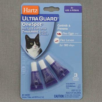 Средство Хартц не рекомендуется применять для маленьких котят