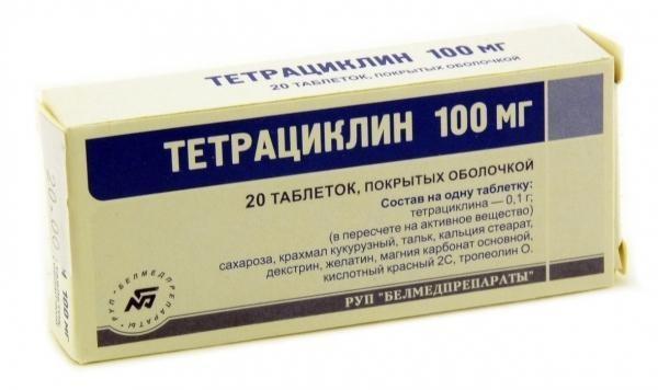 Для лечения заболевания на ранней стадии назначается Тетрациклин