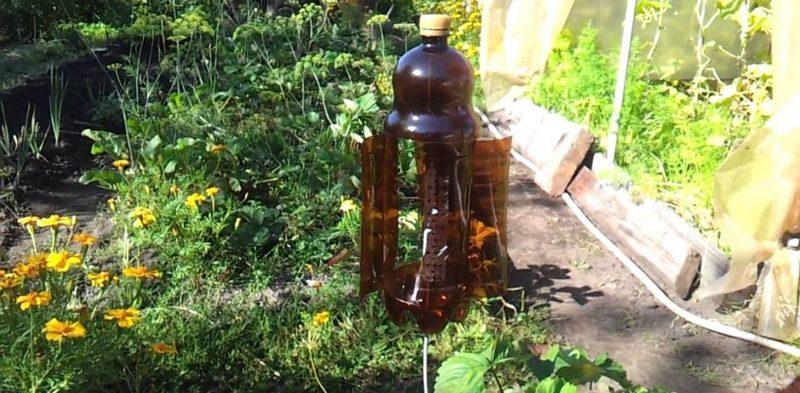 отпугиватель кротов из пластиковых бутылок